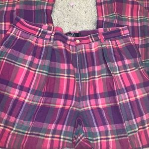 Fall Ready Vintage Plaid Polo Pants